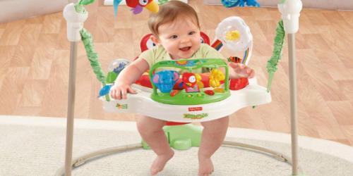 ジャンパルーに乗っている赤ちゃん