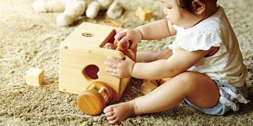 知育玩具で遊んでいる赤ちゃん